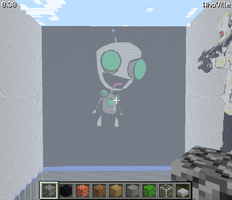 Minecraft-Gir from Invader Zim by ApatheticApogee