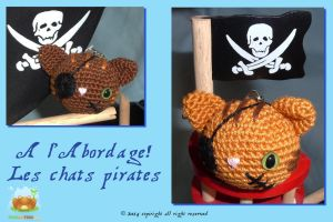 Les Chats Pirates en Amigurumi by Froggy1980