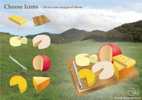 Cheese Icons by robinweatherall