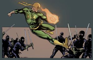 Iron Fist vs ninjas by craigcermak