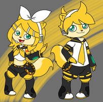 Kagamunke Rin And Len by strawhatcrew96