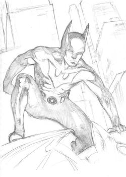 Sketch 026. Batman: Beyond by Dreamerwstcoast