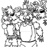 FNAF doodle my style by CatDasher