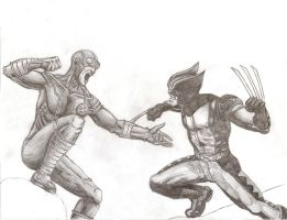 Cyclops Vs Wolverine by elysian-autumn