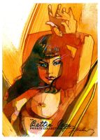 Bettie Page loung about by markmchaley