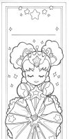 + Color-Me Princess Bookmark + by Glittercandy