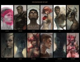 2014 summary of art by len-yan