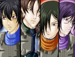 Gundam 00 Boys by moloko-plus