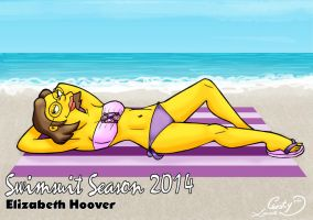 Swimsuit Season 2014: Elizabeth Hoover by Chesty-Larue-Art