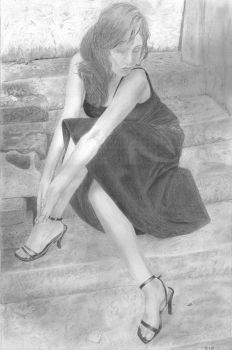 Kathy in stairs by Diego0101