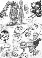 Sketches and Doodles 02 by phoebus-chango