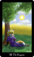The Vulpine Tarot - III The Empress by Mabon-Tail