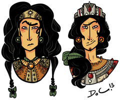 The king and queen of the mighty Baavmathan tribe by bPAVLICA
