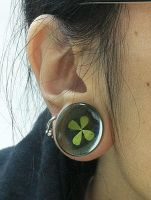 My piercing and plug right 09 by sunsetagain