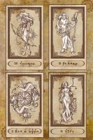 Tarot cards VIII to XI by Karla-Chan