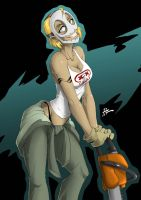 OC: Chainsaw Sally by Blunt-Katana