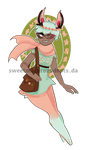 { a: Hipster Mythics: Floral Jackalope }[OPEN] by SweetMacaronAdopts