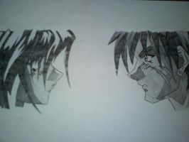 gene and melfina, outlaw star by asher456