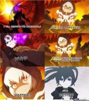 Black Rock Shooter Snickers Meme by Ludra90