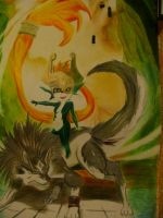 Link and Midna by Andreschickenmode