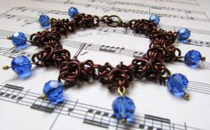 Petrichor bracelet - brown and blue by TerraNovaJewels
