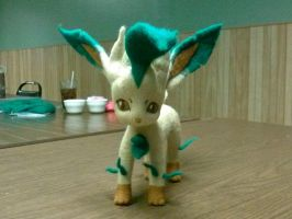 Leafeon needle felt by CreationsbyFrost