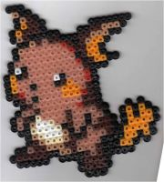 Raichu Beadsprite by underneath-infinity