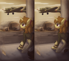 Phone Commission - Watching skies by Amura-Of-Jupiter