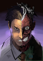 Two-Face colored by NimeshMorarji