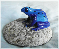 Blue Poison Dart Frog by FelineMyth