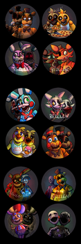Fnaf Full Button Set by Rezllen