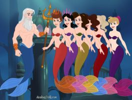 King Triton and his daughters by Namine24