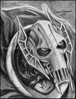 Grievous Pencil Portrait by PurpleRAGE9205