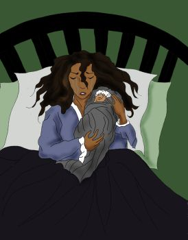 Aftermath - Valerie and Baby Jax by LightningStreak