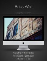 Brick Wall Wallpaper by travisfish