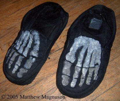 Skeleton Foot Slippers by PigsCanFly2day