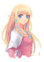 Skyward Sword - Zelda :Sketch: by moxie2D