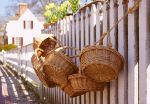 She hangs the baskets by TheBrassGlass