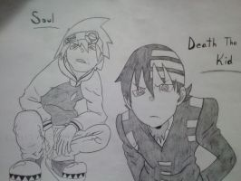 Soul Eater and Death the Kid by NightHawk324