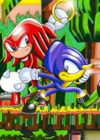 knuckles and espio by knuckles-fan