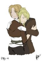 Day 9 - Ed and Winry by Kameia