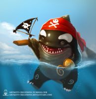 Quaggan Pirate by ArtKitt-Creations