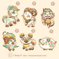 Doodle:Chinese Zodiac part 2 by kongyi