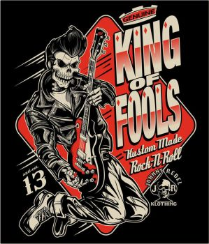 Johnny Rebel T-Shirt Design King of Fools by russellink