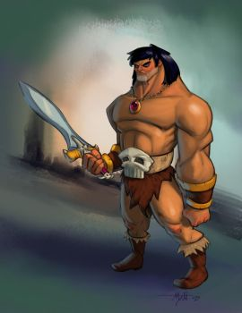 Stylized Conan Concept by umbrafox
