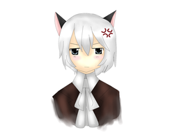 Hetalia - Neko Iceland by Lunaticharmed