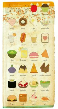A to Z foods by pedronekoi