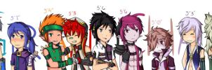 Grand Chase Boys (Heights) by BreadCrumble