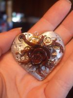 Mechanical Rose Hearts by XxSierraRose