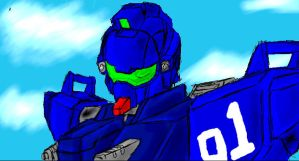 Paintchat - Blue Destiny 01 by GuyverC